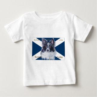 ボーダーコリー、最も最高のな側面のsaltire ベビーTシャツ