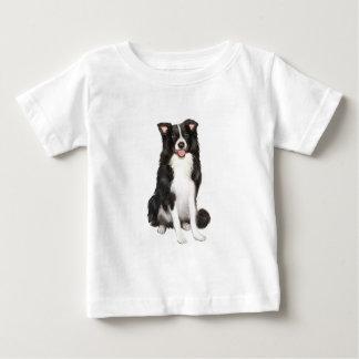 ボーダーコリー(a) -坐ります ベビーTシャツ