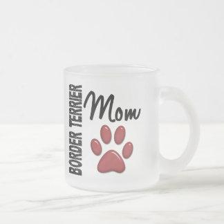 ボーダーテリアのお母さん2 フロストグラスマグカップ