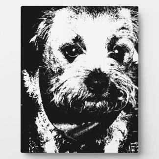 ボーダーテリアのカウボーイ犬 フォトプラーク