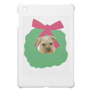 ボーダーテリアのクリスマスのリース iPad MINI CASE