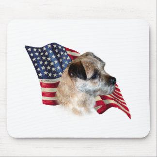 ボーダーテリアの旗 マウスパッド