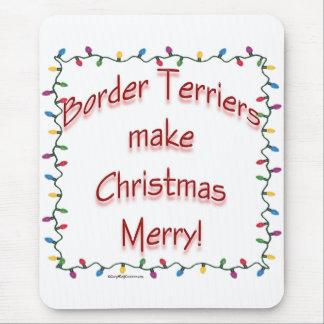 ボーダーテリアはクリスマスをメリーにさせます マウスパッド
