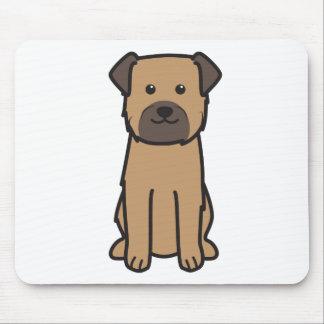 ボーダーテリア犬の漫画 マウスパッド
