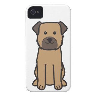 ボーダーテリア犬の漫画 Case-Mate iPhone 4 ケース