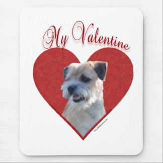 ボーダーテリア私のバレンタイン マウスパッド