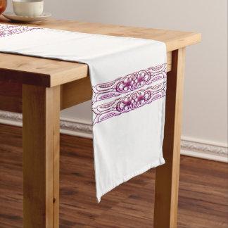 ボーダー1紫色 ショートテーブルランナー