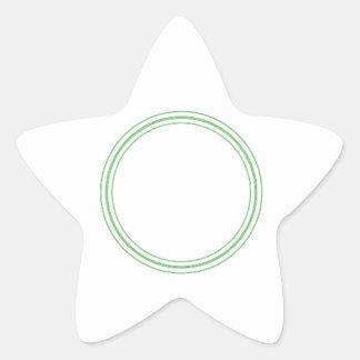 ボーダー-挨拶Lablesが付いている円形の明白なステッカー 星シール