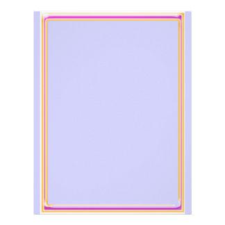 ボーダー +  明白なピンク レターヘッド