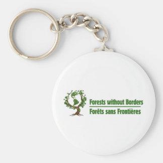 ボーダー- frontières sans Forêtsのない森林 キーホルダー