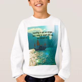 ボートが付いている旅行の引用文のビクトリア景色の港 スウェットシャツ