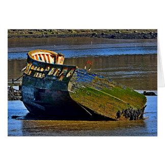 ボートが退職することを行く古い一方、 カード