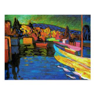 ボートとの秋の景色 ポストカード