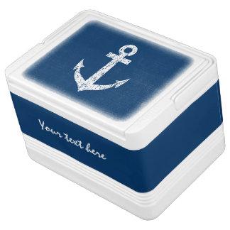 ボートのいかりのデザインの航海のな缶のクーラー箱 IGLOO クーラーボックス
