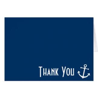 ボートのいかりはメッセージカードは感謝していしています(濃紺) カード