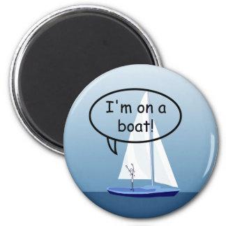 ボートのおもしろいな円形の磁石のヨットの船員 マグネット