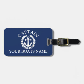 ボートの大尉の航海のな船のいかり ラゲッジタグ