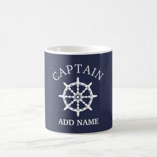 ボートの大尉(大尉の個人化して下さいNameを) コーヒーマグカップ