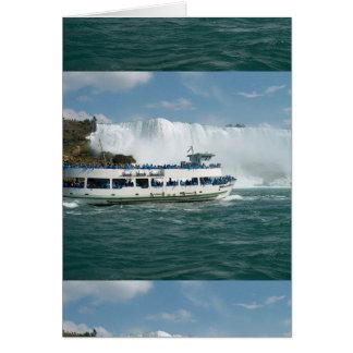ボートの帆オンタリオ湖ナイアガラ川Fallsviewのおもしろい カード