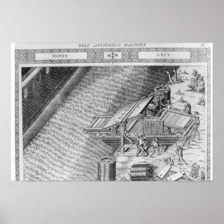ボートの形をしたなされる橋 ポスター