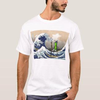 ボートの忍耐のバッタ Tシャツ