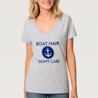 ボートの毛は航海のないかりのTシャツGを気にしません Tシャツ