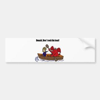 ボートの漫画を揺すっているおもしろいなドナルド・トランプ バンパーステッカー
