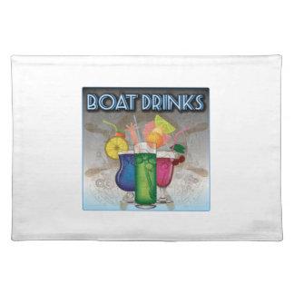 ボートの飲み物 ランチョンマット