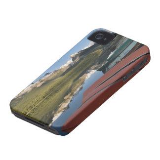 ボートはMaligne湖のでlakeshore駐車しました、 Case-Mate iPhone 4 ケース