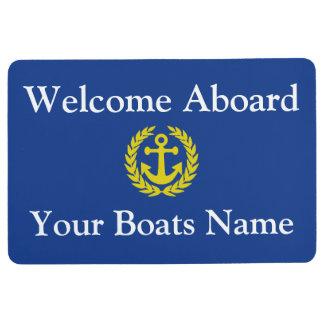 ボートまたはヨットの歓迎 フロアマット