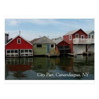 ボートハウス: 都市桟橋、Canandaigua、NY ポストカード