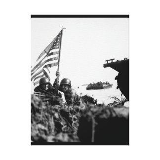 ボートフックのmast_Warイメージのグアムの最初旗 キャンバスプリント