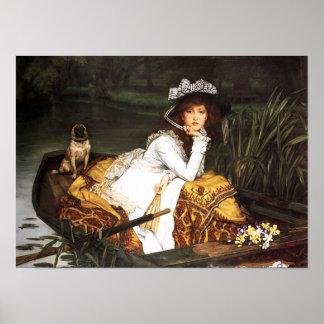 ボートポスターのジェームスTissotの若い女性 ポスター