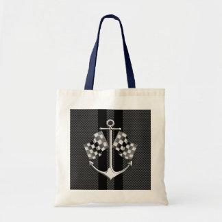 ボート競争航海のなカーボン繊維のクロムスタイル トートバッグ