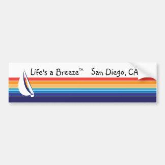 ボート色のSquare_LifeのBreeze™_Sanディエゴ バンパーステッカー