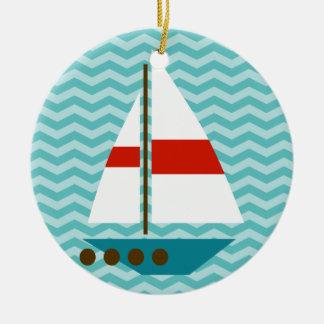 ボート セラミックオーナメント
