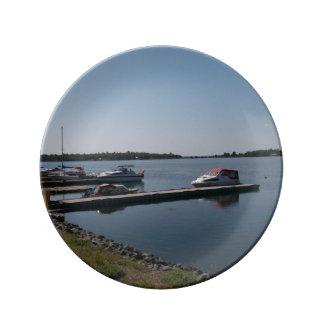 ボート 磁器プレート