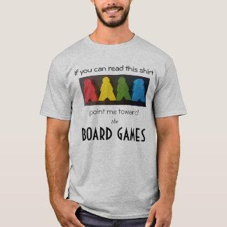 ボードゲームおよびMeeplesのTシャツ Tシャツ
