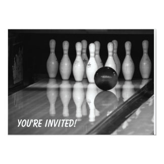ボーリングのイベントの招待状 カード