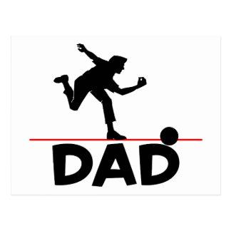 ボーリングのパパ ポストカード
