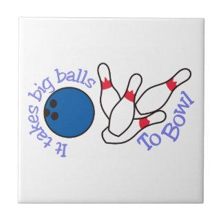 ボーリングをする大きい球 タイル