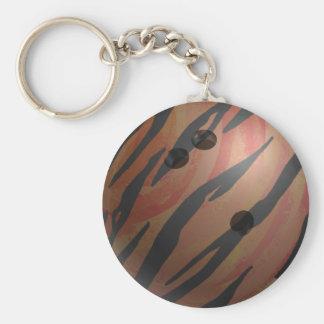 ボーリング・ボールのトラのオレンジ キーホルダー
