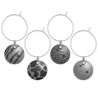 ボーリング・ボールの灰色 ワインチャーム