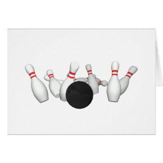 ボーリング・ボール及びピン: 3Dモデル: カード