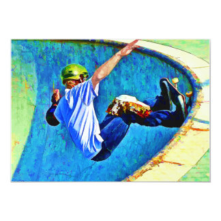 ボールでスケートボードをすること 12.7 X 17.8 インビテーションカード