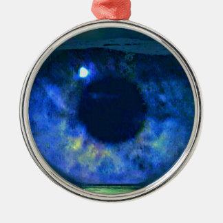 ボールで浮かぶBizzareの青い目 メタルオーナメント