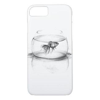 ボールの鉛筆の芸術のiPhone 7の場合の金魚 iPhone 8/7ケース