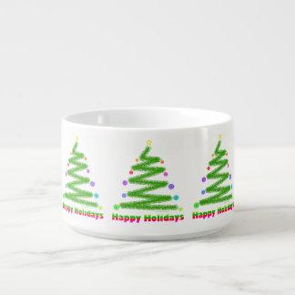 ボール-幸せな休日のクリスマスツリーのデザイン チリボウル