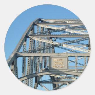 ボーン橋写真 丸型シール