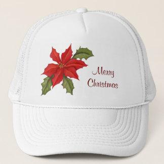 ポインセチアのクリスマス キャップ